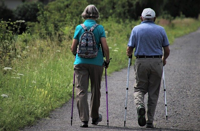 Stroke survivors walking with mobility aids
